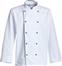 Hvid/Sort Chef-kokkejakke med manchet og piping, Pipe (201082100)
