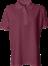 Bordeaux Polo Shirt u. brystlomme, dame, Prowear (725009100)
